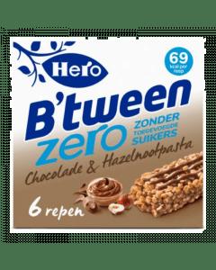 B'tween Chocolade & Hazelnoot zero 6x20gr.