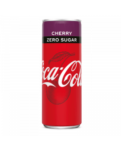 Coca Cola  Zero Sugar Cherry blik 24x25cl.