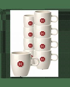 D.E. koffie kop zegel 12 stuks