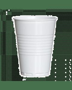 Flo plastic automaatbeker wit 180cc. 100 stuks