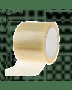 Plakband tape transparant  75mm. 66mtr.