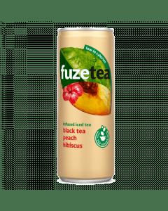 Fuze Tea peach hibiscus blik 24x25cl.