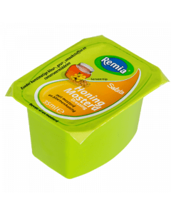 Remia dressing Honing Mosterd cups 54x35ml.