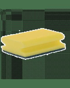 Betra schuurspons geel/groen + greep 140x70x42mm.
